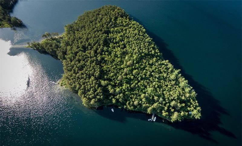 Остров Веры с высоты птичьего полета