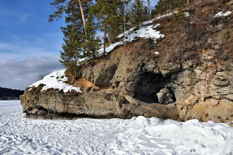 Пугачевский грот зимой